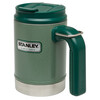 Stanley Vaccum Camp Mug Drinkfles 473ml groen